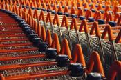 Supermarket Sweep, Sainsbury's Slalom - Mounted Print